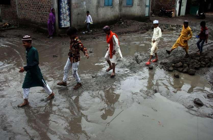 झमाझम बारिश में भीगा राजस्थान का यह गांव ,आधे घंटे में हुआ इस गांव का यह हाल