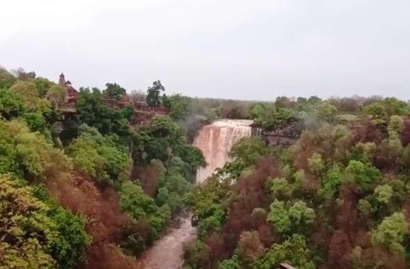 भारी बारिश से उफन पड़ा राजस्थान का प्रसिद्ध झरना, बनास नदी में आया पानी, यहां भारी बारिश की चेतावनी