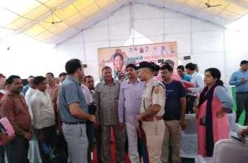 सीएम राजे का दौरा देख अधिकारी हरकत में