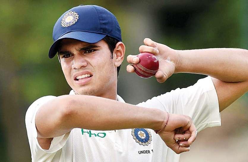 under 19 cricket : दूसरे मैच में भी नहीं बोला अर्जुन तेंदुलकर का बल्ला, इस कदर हुए आउट के....
