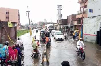 मानसूनी बारिश ने खोली स्मार्ट सिटी के दावों की पोल,सड़कें हुई तालाब
