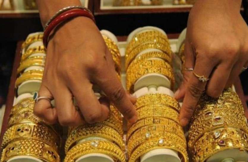 सोने की कीमतों में हुर्इ 100 रुपए की कटौती, चांदी के दाम रहे स्थिर