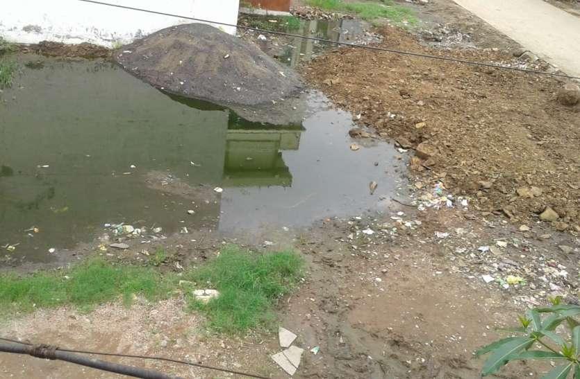 चोक पड़े चैंबर से प्लॉटों में भरा सीवेज का पानी, दो हजार की आबादी परेशान