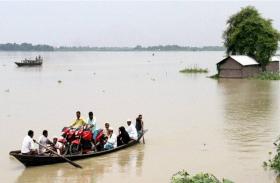 असम में हो रही लगातार बारिश,बाढ़ की चपेट में छह जिले