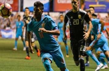 फुटबॉल मैच में भारत ने अर्जेंटीना को हराकर रचा इतिहास