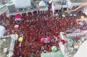 दूसरे सोमवार को बाबाधाम में उमड़ी भीड़,एक लाख से अधिक श्रद्धालुओं ने किया बाबा बैद्यनाथ का जलाभिषेक