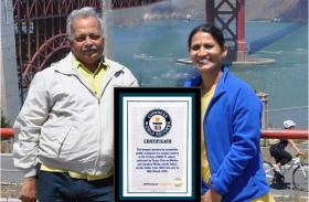 मिश्रा दंपती का रिकार्ड गिनीज बुक में दर्ज, 42 दिन में 29 हजार किलोमीटर की यात्रा की