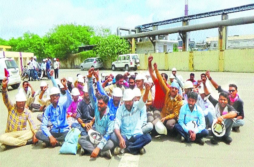 ग्रेसिम के 150 श्रमिकों ने क्यो किया तीन घंटे तक हंगामा