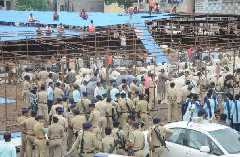 मेगा डिमोलिशन : लंबे विवाद के बाद मनपा ने ढहाई बकरा मंडी