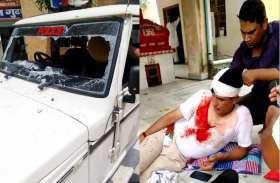 JHUNJHUNU : गुढ़ागौडज़ी पुलिस थाने में घुसी बेकाबू भीड़ ने SHO का सिर फोड़ा, गाड़ी में भी तोड़फोड़