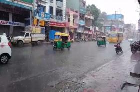 मौसम हुआ सुहावना, शहर के कई इलाकों में अच्छी बारिश