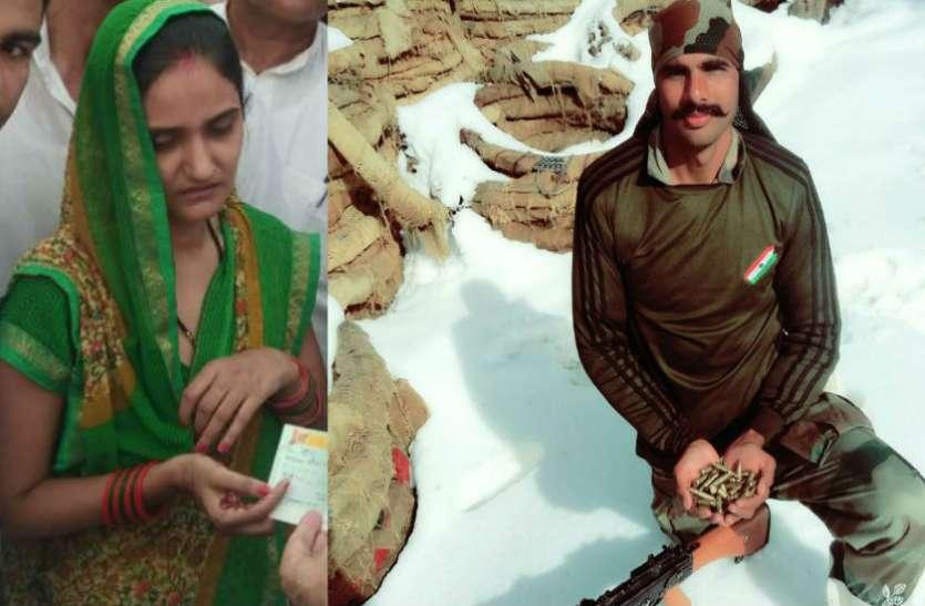 शहीद पुष्पेन्द्र सिंह  की पत्नी ने पाकिस्तान को दी चेतावनी, सबक सिखाएगा मेरा बेटा, देखें वीडियो