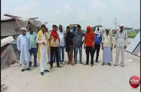 रिंग रोड निर्माण में भी बरती जा रही अनियमितता, ग्रामीणों ने बंद कराया काम, आंदोलन की चेतावनी