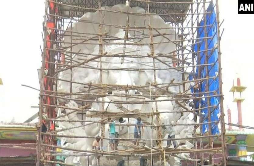 हैदराबाद: इस बार खास होगा खैरताबाद गणेश उत्सव, बन रही है एक करोड़ की लागत से 57 फीट ऊंची प्रतिमा