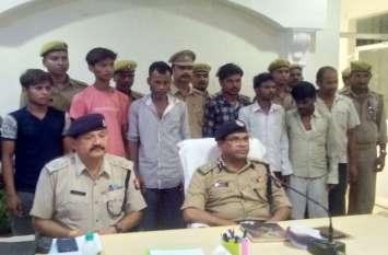 उन्नाव पुलिस का बड़ा खुलासा लखनऊ कानपुर से चुराई गई 11 मोटरसाइकिल सहित 7 अभियुक्त गिरफ्तार
