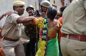 VIDEO फतेहपुर : लाठी चार्ज के दौरान जिस घर में पुलिस घुसी उसमें महिला की मौत