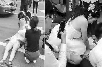 चीन: घायल महिला को बचाने के लिए दुल्हन नर्स ने बीच में रोकी अपनी शादी, देश भर में हो रही तारीफ