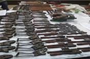नक्सली संगठन पीएलएफआई को बड़ा झटका,मिनी गन फैक्ट्री ध्वस्त कर पुलिस ने बरामद किए यह खतरनाक हथियार