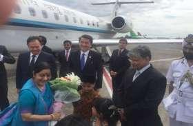 दो देशों के दौरे पर वियतनाम पहुंचीं विदेश मंत्री सुषमा स्वराज, हिन्द महासागर सम्मलेन में लेंगी हिस्सा