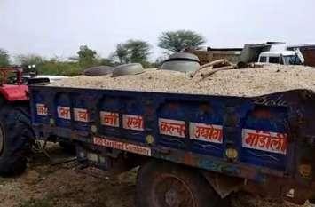 बजरी कालाबाजारी : आठ घंटे में जब्त किए अवैध बजरी परिवहन कर रहे वाहन