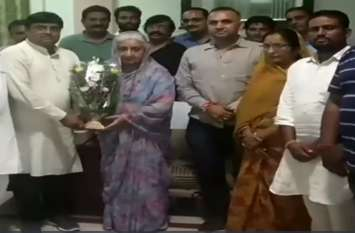 चंद्रेश कुमारी पहुंची बीकानेर, कांग्रेस कार्यकर्ताओ ने किया स्वागत