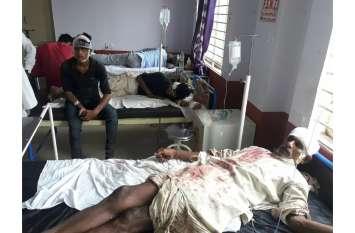 जमीन विवाद: दो भाइयों में खूनी संघर्ष चले लाठी-फर्से, 13 घायल, एक गंभीर