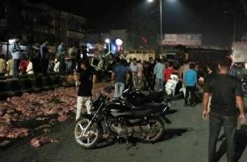 Meerut Hit and Run Case: कंटेनर ने 30 सेकेंड में 16 को रौंदा, पांच की मौत, देखें तस्वीरें