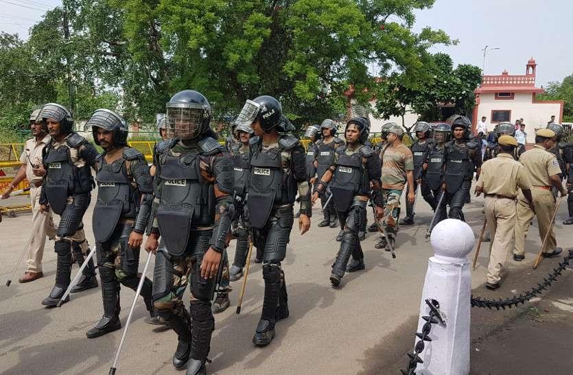 भारत बंद को लेकर पुलिस चौकन्ना, किए गए हाइटेक इंतजाम