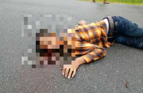 बिग ब्रेकिंग : एनएच पर पड़ी लाश की हुई शिनाख्त, पुलिस में आरक्षक था सायबो राम लेकाम