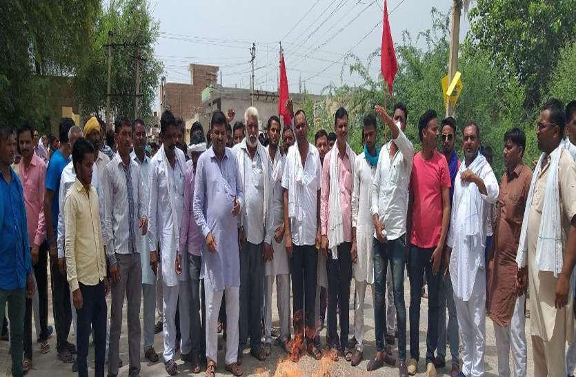पूर्व विधायक की गिरफ्तारी के विरोध में श्रीगंगानगर जिले में थानों पर प्रदर्शन