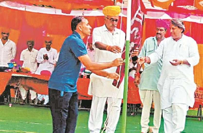 जिला स्तरीय फुटबॉल खेलकूद प्रतियोगिता शुरू, गंगापुर सिटी विधायक मानसिंह बोले— खेलों से हमे आगे बढऩे की प्रेरणा मिलती है