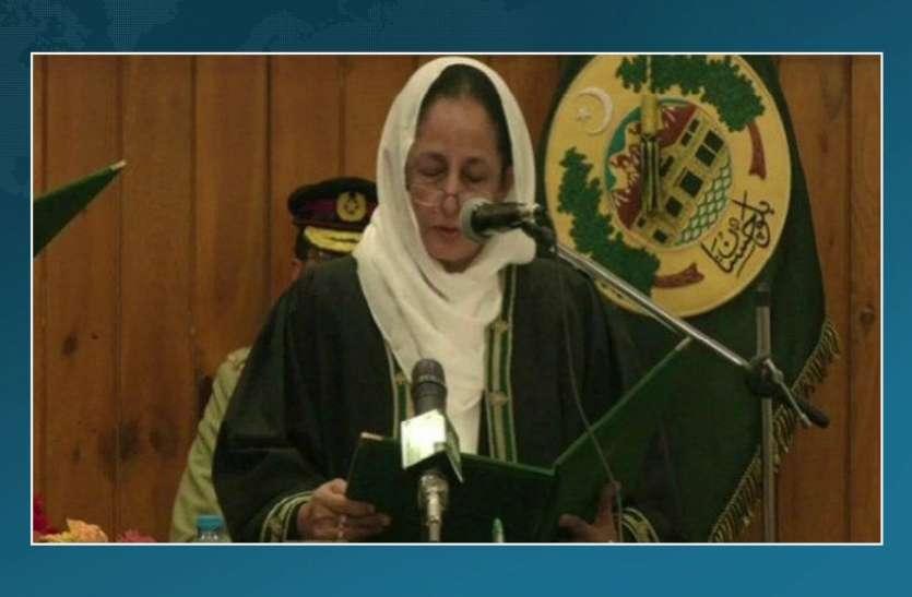 पाकिस्तान के उच्च न्यायाल मुख्य न्यायाधीश बनने वाली पहली महिला बनीं ताहिरा सफ़दर