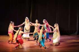नृत्य में दिखा तीन शैलियों का मिश्रण