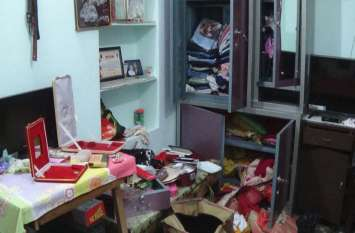 बालाजी के दर्शन करने गया था परिवार, घर में शातिर तरीके से सोने-चांदी के जेवरों समेत हुई लाखों की चोरी