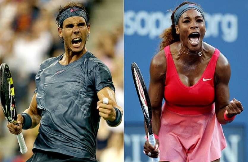 US Open: नडाल और सेरेना का विजयी सफर जारी, दोनों क्वार्टर फाइनल में पहुंचे