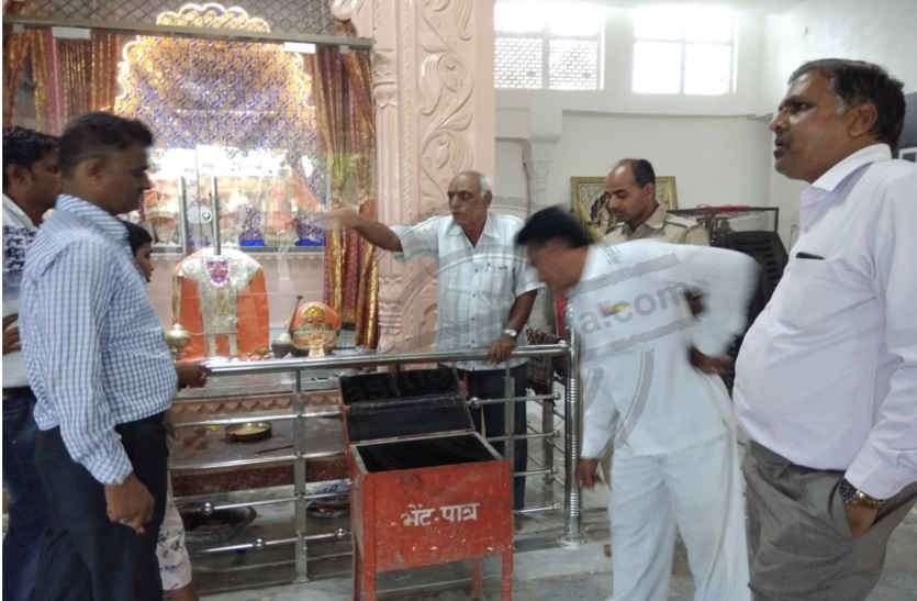 काछोला में दिनदहाड़े चोरी की वारदात,   सात दिन में चोरी की तीसरी वारदात, बाग के बालाजी मंदिर को चोरों ने  बनाया  निशाना