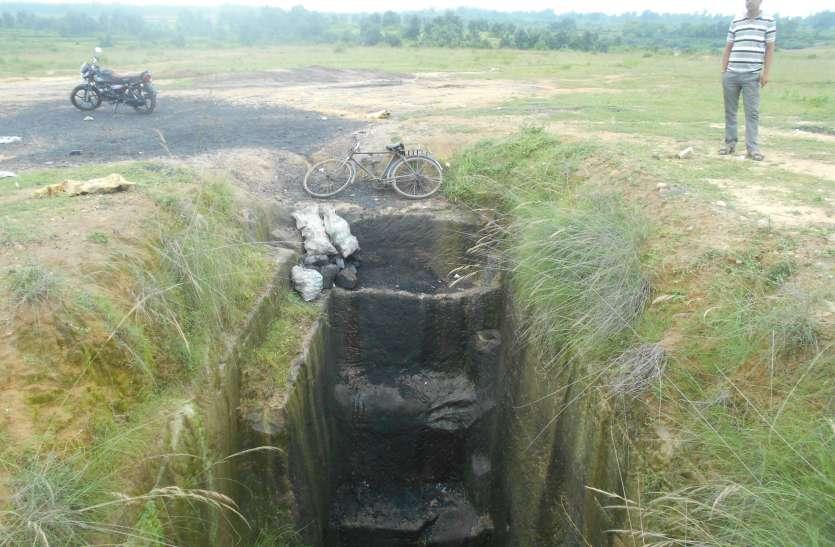 बटुरा व बकही में चल रही अवैध कोयला खदानें , सोन नदी का सीना कर रहे छलनी