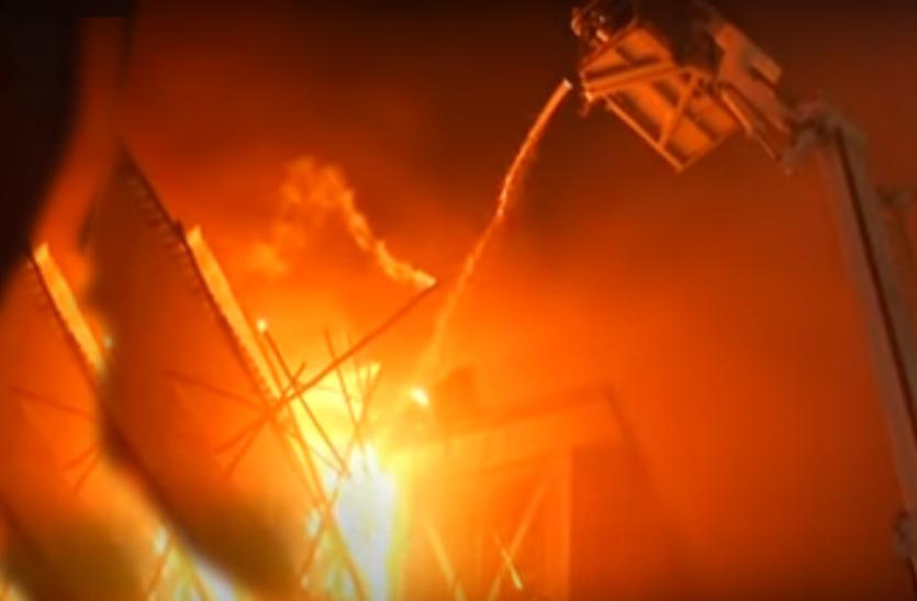 दिल्ली: संजय गांधी ट्रांसपोर्ट नगर के एक गोदाम में लगी भीषण आग, 2 की मौत, 3 घायल