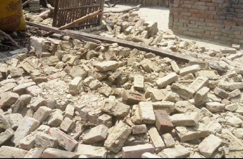 दीवार गिरी, मलबे में दबने से महिला की मौत