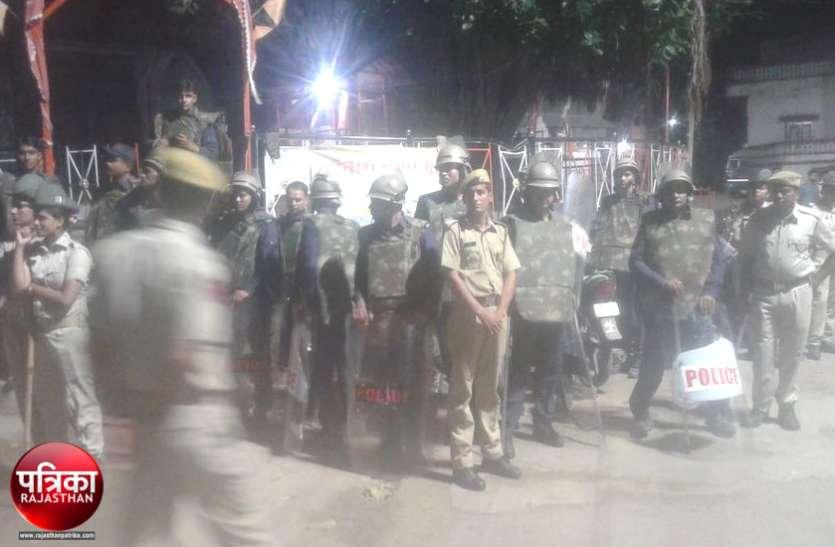 बांसवाड़ा : प्रशासन की उड़ी नींद, झगड़े की सूचना पर दौड़े कलक्टर और एसपी, पुलिस तैनात