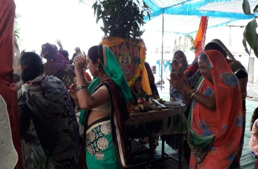 हर घर पोषण त्योहार मनाकर बच्चों को किया प्रसाद का वितरण
