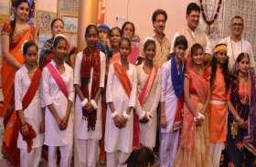 महाकाल मंदिर में मटकी फोड़ संग मनाया कृष्ण जन्मोत्सव