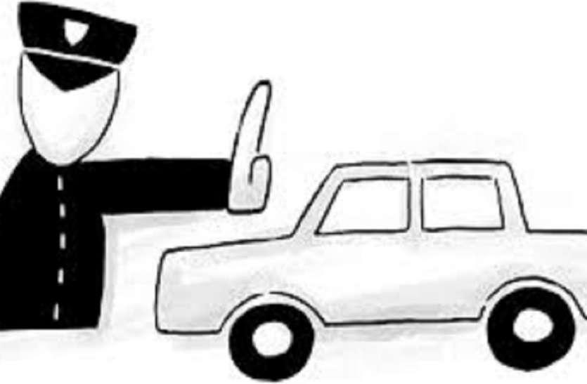 अवैध पार्किंग हटाने गई पुलिस पर तिलजला में हमला