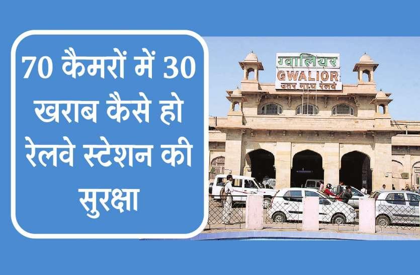 70 कैमरों में से 30 खराब, कैसे हो रेलवे स्टेशन की सुरक्षा