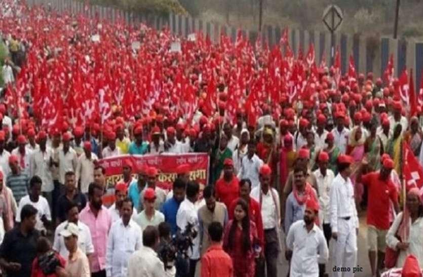 दिल्ली: मोदी सरकार से नाराज किसानों और मजदूरों का हल्ला बोल, रामलीला मैदान से संसद तक मार्च