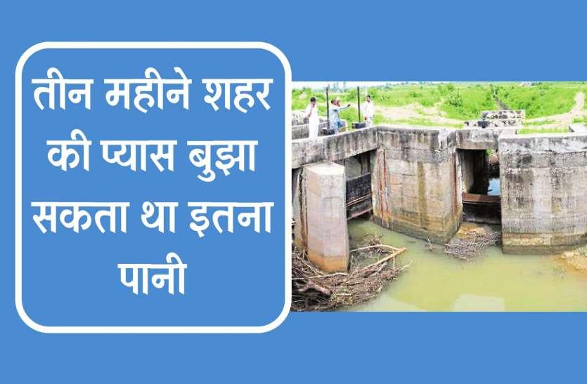 अफसरों ने बहा दिया 9 करोड़ रुपए का पानी, चाहते तो डायवर्ट कर बांधों में सहेज सकते थे