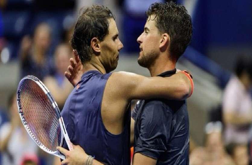US Open: नडाल से हार कर भी बड़ा रिकॉर्ड बना गए डोमिनिक थिएम, सेरेना भी सेमीफाइनल में