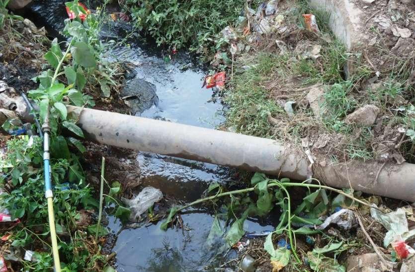 कचरा डालने से नालियां हो रही हैं जाम, लोगों को बीमारी का खतरा