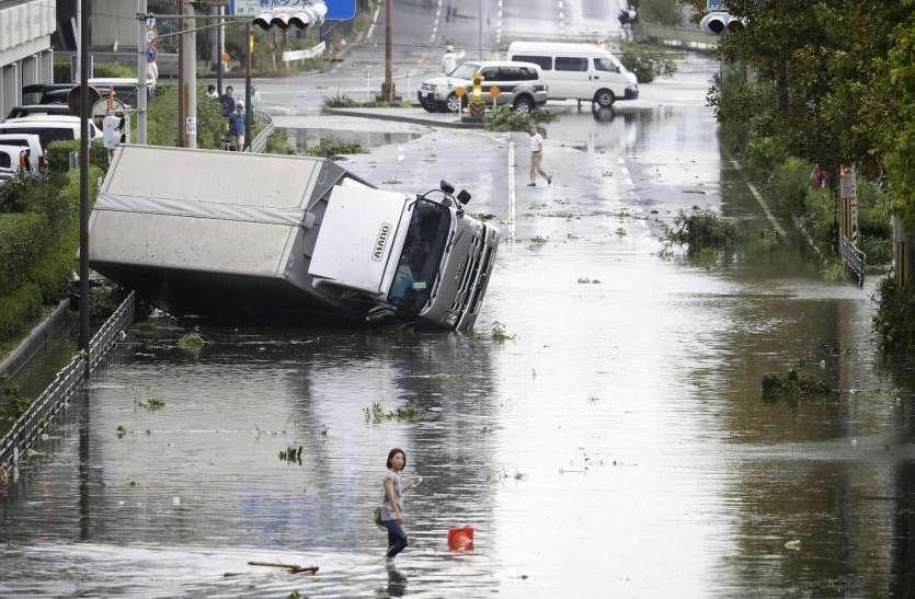 जापान में तूफान जेबी ने मचाई तबाही, अब तक 7 लोगों की मौत