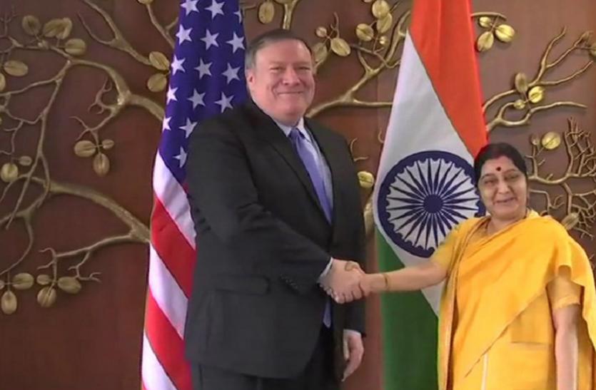 2+2 वार्ताः भारत-अमरीका की अर्थव्यवस्था को नुकसान पहुंचाने वाली बाहरी ताकतों से की जाएगी रक्षा